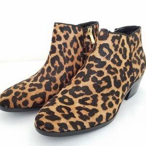 Sam Edelman Petty Leopard Calf Hair Ankle Booties